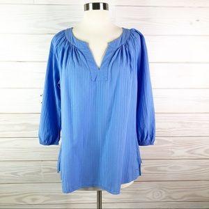 Vineyard Vines Blouse Woman Top Blue Size M
